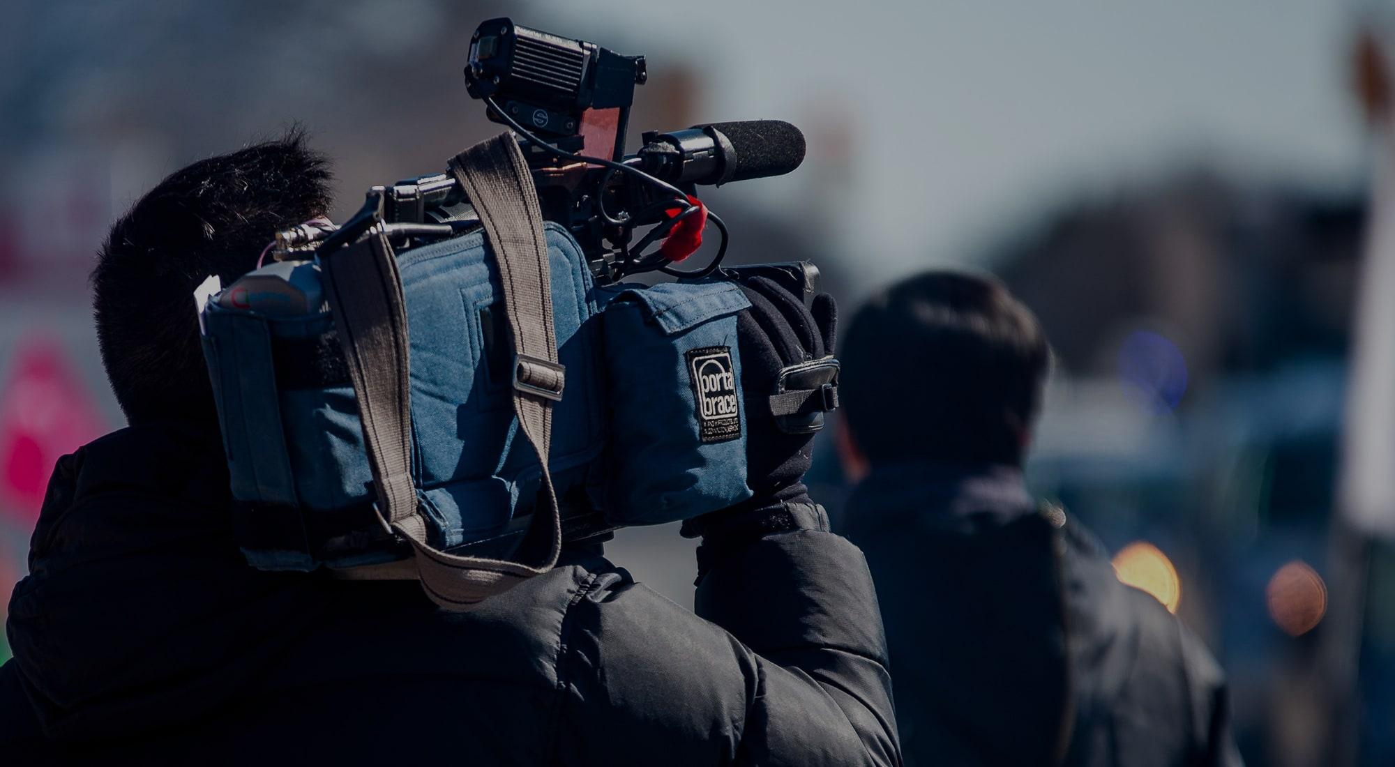 news media cameraman